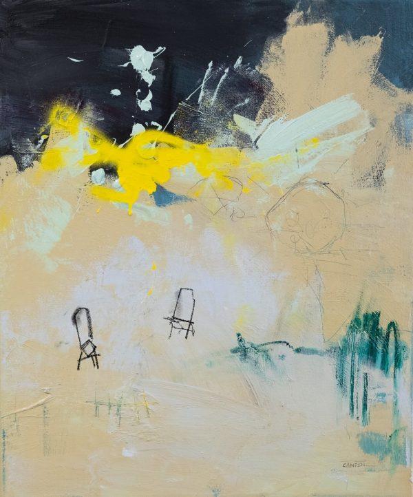 Pat Cantin Artiste Peintre / Amis sur la plage