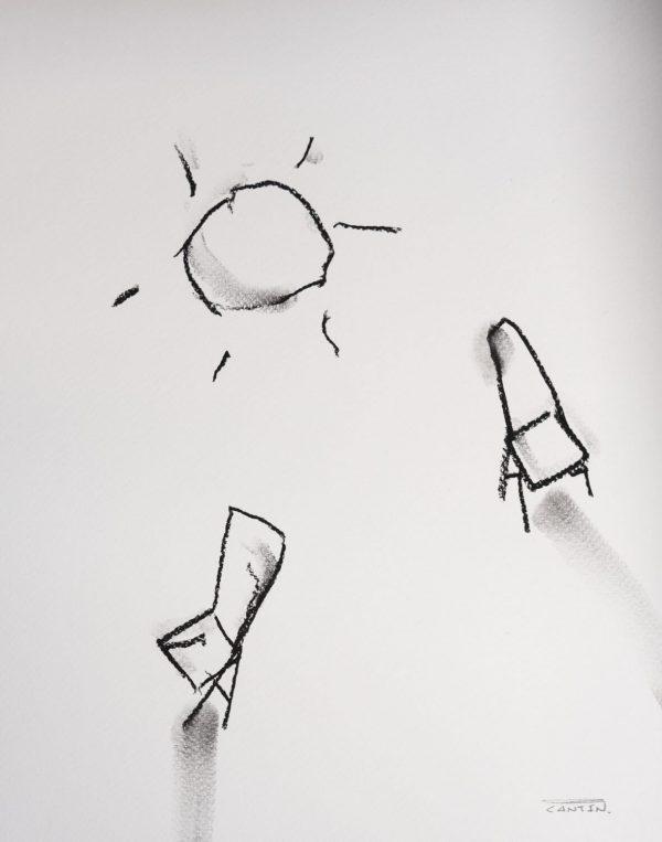 Pat Cantin Artist / Étude au fusain 14