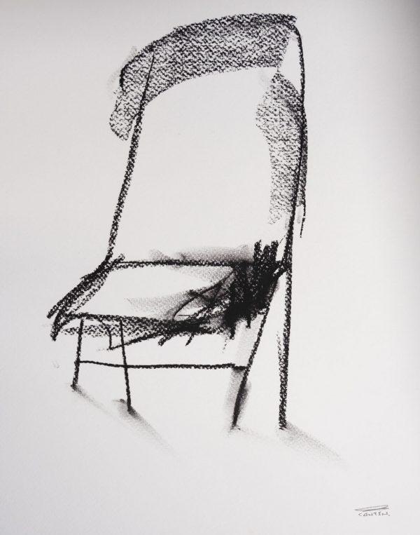 Pat Cantin Artist / Étude au fusain 13