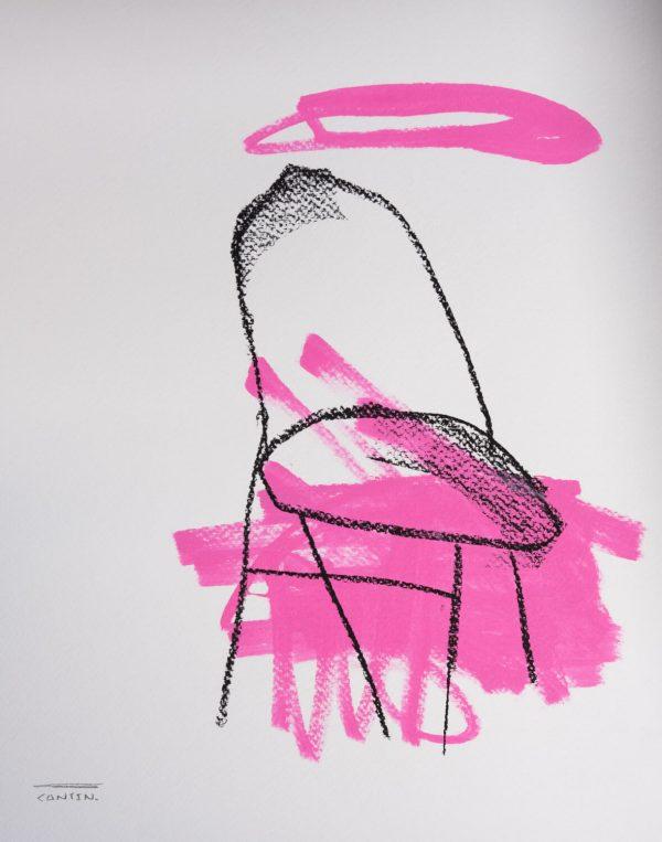 Pat Cantin Artist / Étude au fusain 11