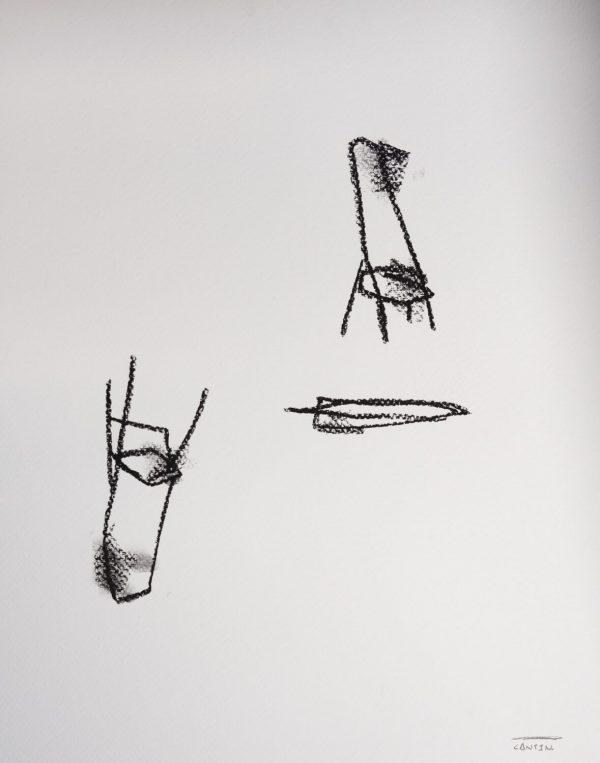 Pat Cantin Artist / Étude au fusain 10