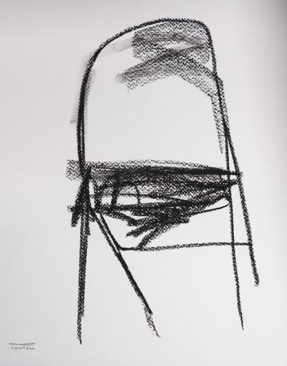 Pat Cantin Artist / Étude au fusain 09
