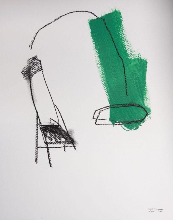 Pat Cantin Artist / Étude au fusain 08