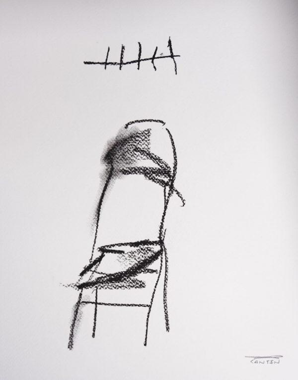 Pat Cantin Artist / Étude au fusain 07