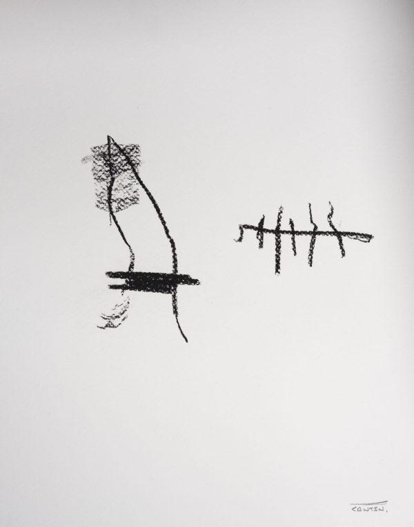 Pat Cantin Artist / Étude au fusain 06