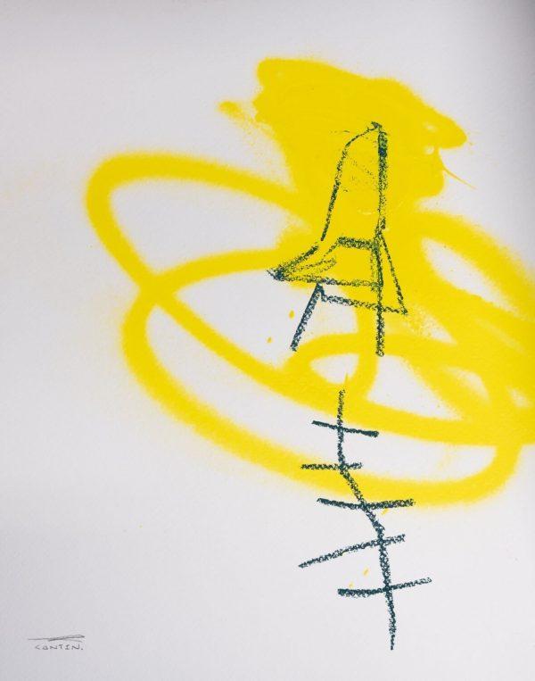 Pat Cantin Artist / Étude au fusain 05