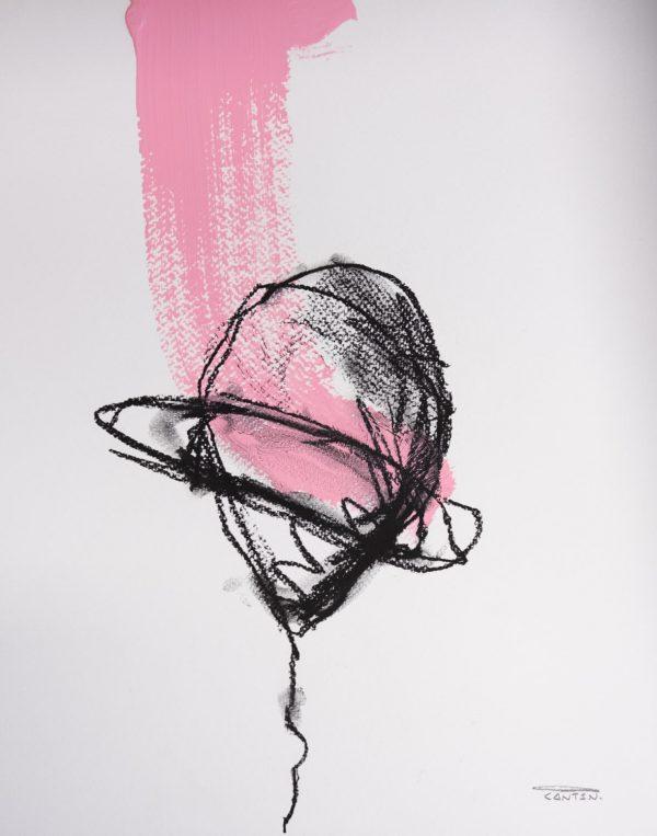 Pat Cantin Artist / Étude au fusain 04