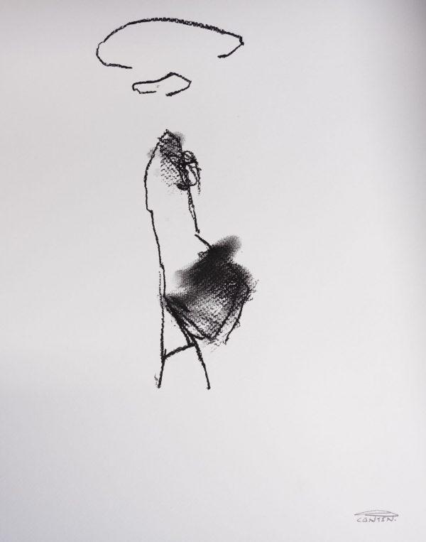 Pat Cantin Artist / Étude au fusain 02
