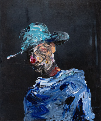 Pat Cantin Artist / The man in hat