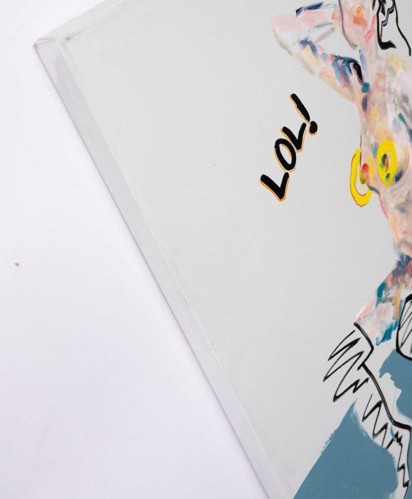 Pat Cantin Artist / Chapeau nylon et tits de cuir